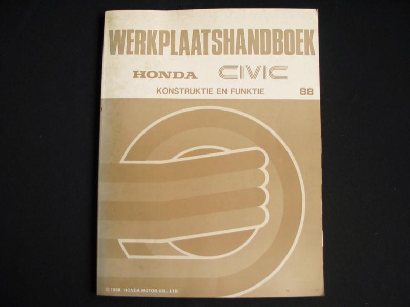 Werkplaatshandboek Honda Civic (1988) Constructie en Functie