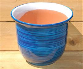 Tuinpot Campana  Bicolor Celeste 40 x 34 cm