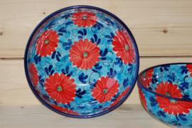 Saladeschaal Diep Flor Azul Roja Extra (32 x 12)