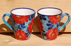 Beker taps Flor Azul/Rojo