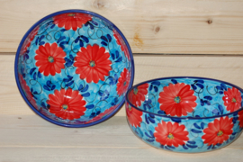 Saladeschaal Flor Azul Roja 1 (28 x 9)