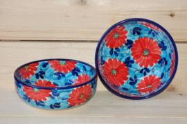 Saladeschaal Flor Azul Roja 2 (23 x8)