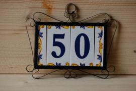 Huisnummer in frame