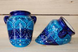 Muurpot Groot Azul bicolor (nieuw 2020)