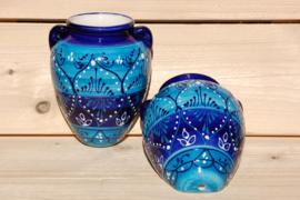 Muurpot medium Azul bicolor 22 x19 cm