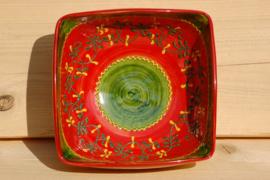 Vierkante Saladeschaal Verde