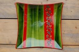 Grote Vierkante decoratieschaal Verde