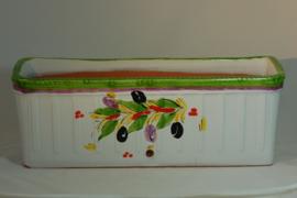 Handbeschilderde plantenbak Olijf (Nieuw 2020)