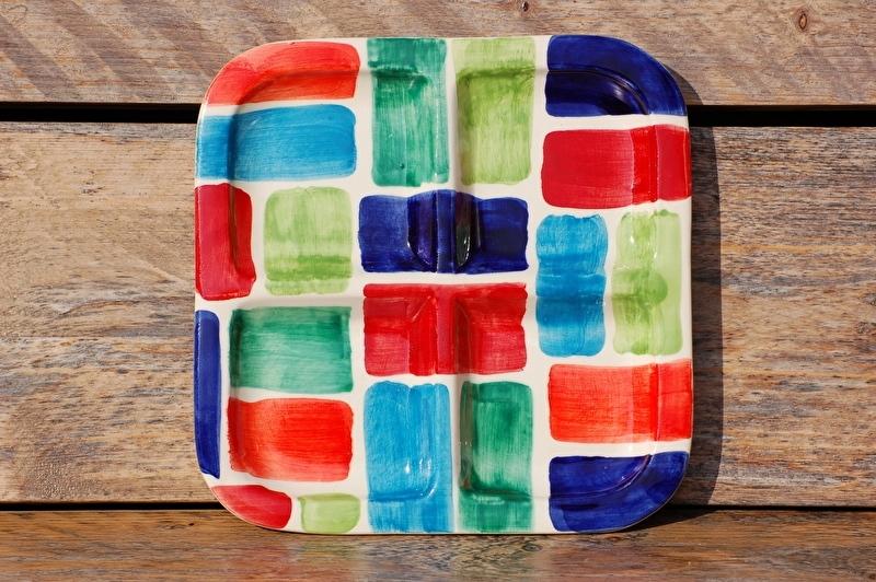 Vierkante platte schaal Cuadros