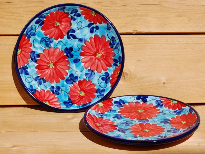 Groot bord Flor Azul Roja 31 cm (nieuw 2021)