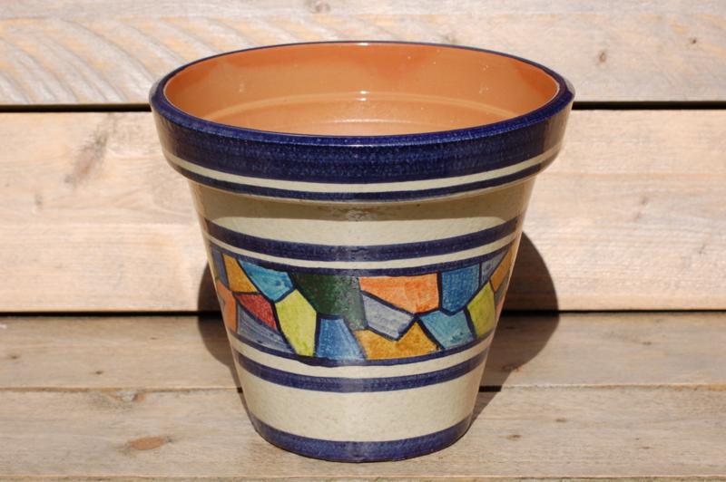 Tuinpot Mosaic 40 cm doorsnee