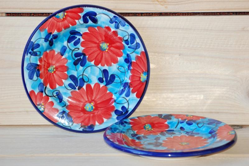 Ontbijtbord Flor Axul Roja 22 cm (nieuw)