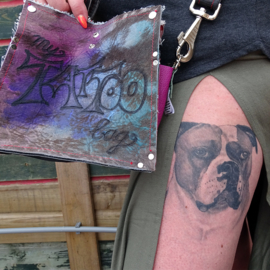 Big CowBag Color Tattoo   Just say hello and smile