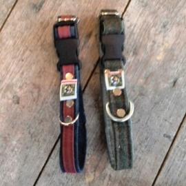 Jeanshalsbandje met clip S