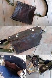 Medium Leather Bag | Prachtige leren tas van vintage jas