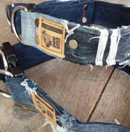 Halsbanden van ripped jeans