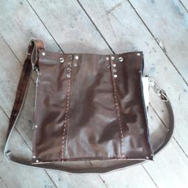 Big Bag | Grote leren tas van vintage jas