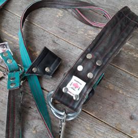 Halsbanden van riemen van vintage motorjacks