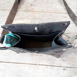 Little Bag | Leren tas van vintage motorjas