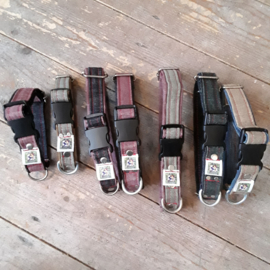 Jeanshalsband met clip