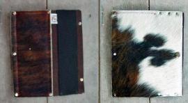 Tablethoes van koeienhuid