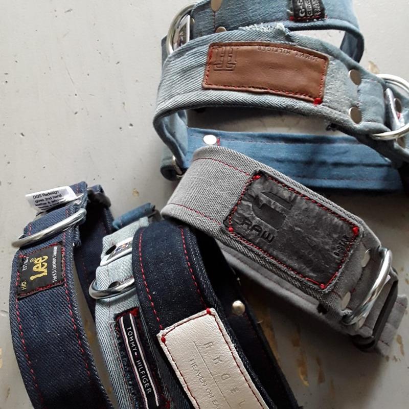 Designer jeans halsbanden met clip