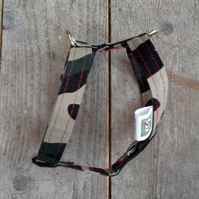 Jeanstuigje army met clip | Maat XXXS
