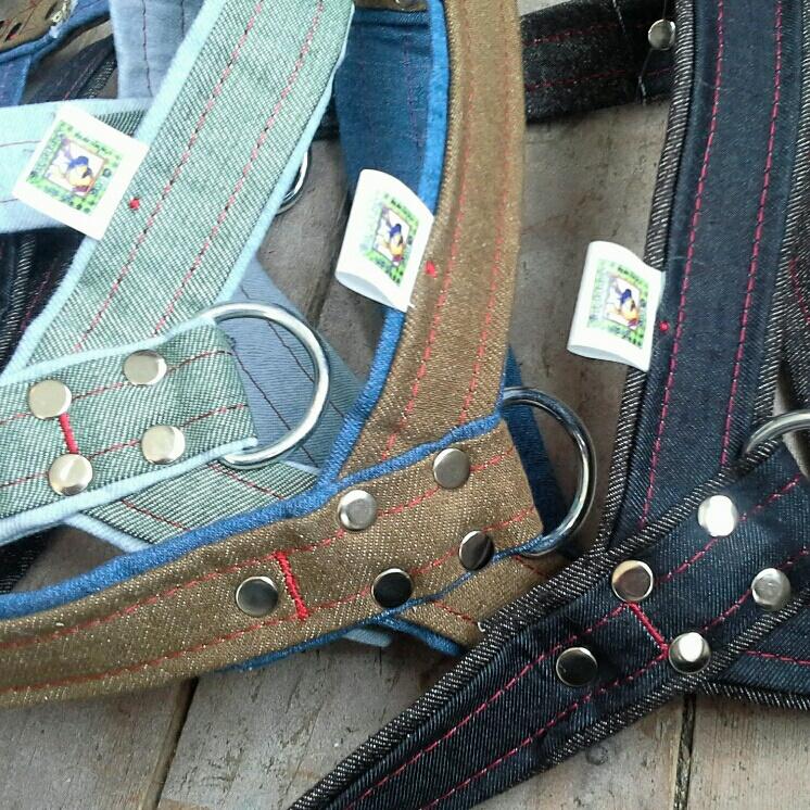 Jeanstuigen met clip | Maat L