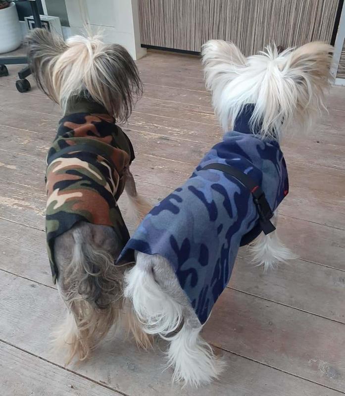 Fleecejas camo voor je hond (reversible!)