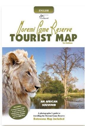 Moremi Game Reserve Tourist Map