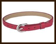 LSK912: Imitatieleren armband 15-22cm, geschikt voor schuifkralen. Kleur: Donker Rood.