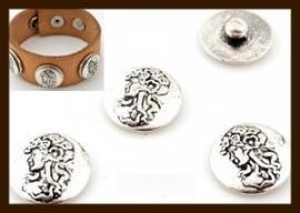 CH010: Chunk-Drukknoop-Easy Button van 18mm: Dame.