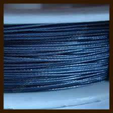 Rol Gecoat Staaldraad 0.38mm, lengte 10m: Donker Blauw.