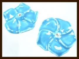 1st. Porselein Bloem XL: Blauw.