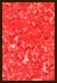 50st. Acryl Similisteentjes van 2.5mm: Rood.