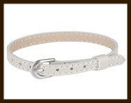LSK923: Imitatieleren armband 15-22cm, geschikt voor schuifkralen. Kleur: Beige.