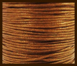 10 meter: Waxkoord van 1mm: Bruin.