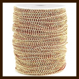 FW299: 1m Fashion Wire van 5mm: Dark Red-Gold