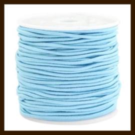 1m: Elastiek met een dikte van 1mm: Licht Blauw.