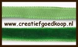 5m. Fluweel Lint: Groen.
