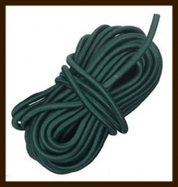 5m: Elastiek met een dikte van 1mm: Donker Groen.