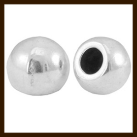 K021: Set van 2 Einddopjes van 4mm, rijggat 1.2mm: Nikkel.