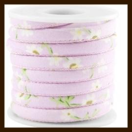 TRK151: 20cm Trendy Gestikt Koord van 6x4mm: Lilac Purple.