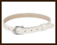 LSK927: Imitatieleren armband 15-22cm, geschikt voor schuifkralen. Kleur: Zandkleur.