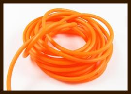 1 Meter Rubber Buna Koord Dicht van 2mm: Oranje.