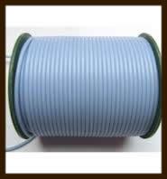 1 Meter Rubber Buna Koord Dicht van 2mm: Licht Blauw.