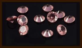 50st. Acryl Similisteentjes van 2.5mm: Roze.