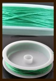 Rol Elastisch Nylondraad van 0.5mm, lengte 10m: Groen.