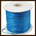 1 Meter: Waxed Polyester Koord van 1mm: Blauw.