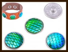 CH033: Chunk-Drukknoop-Easy Button van 18mm: Groen AB.